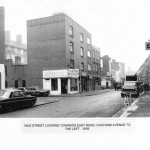 Nile Street looking towards East Rd - 1976. Chatham Avenue on the left