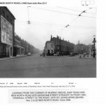 Bookham St with Crondall St to the right c1956 - view from Murray Grove/New North Rd
