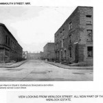 Char mouth Street 1955 view from Wenlock Street