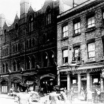 Hoxton St and The Costers hall and Admiral Keppel pub 1910