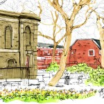 St John's Churchyard - drawing by Zhenia Vasilev